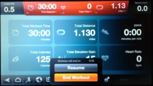 Treadmill screen